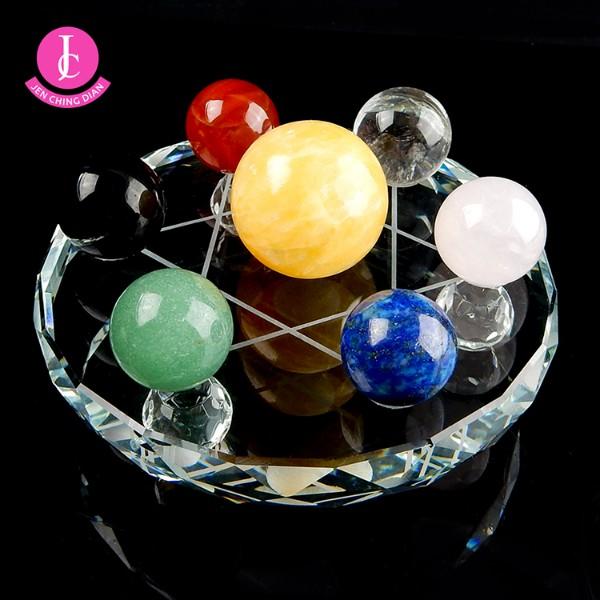 天然綜合水晶球七星陣