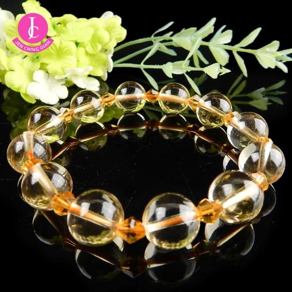 天然黃水晶手珠