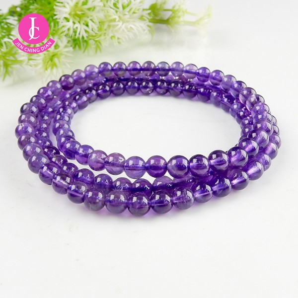 天然紫水晶手珠(三圈型)