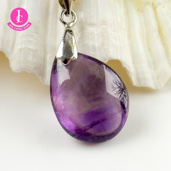 天然紫水晶墜
