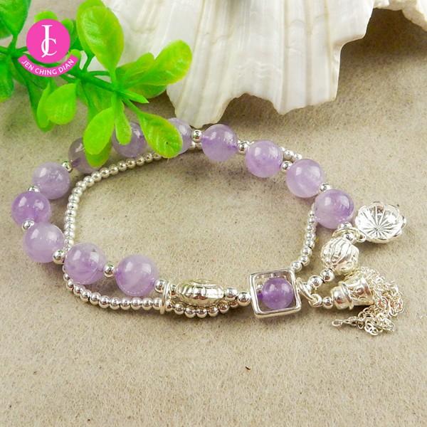 天然紫水晶手鍊