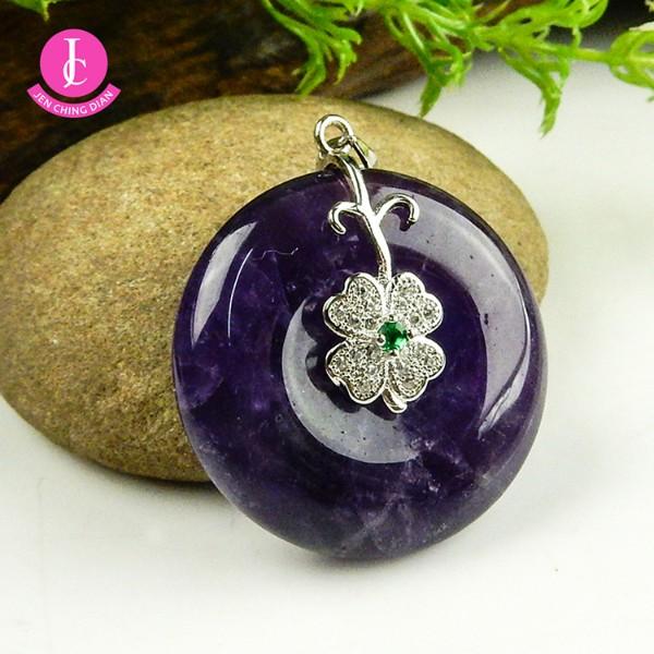天然紫水晶墜 (隨機出貨)
