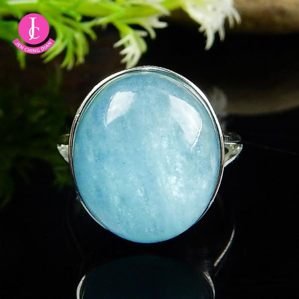 天然海藍寶戒指