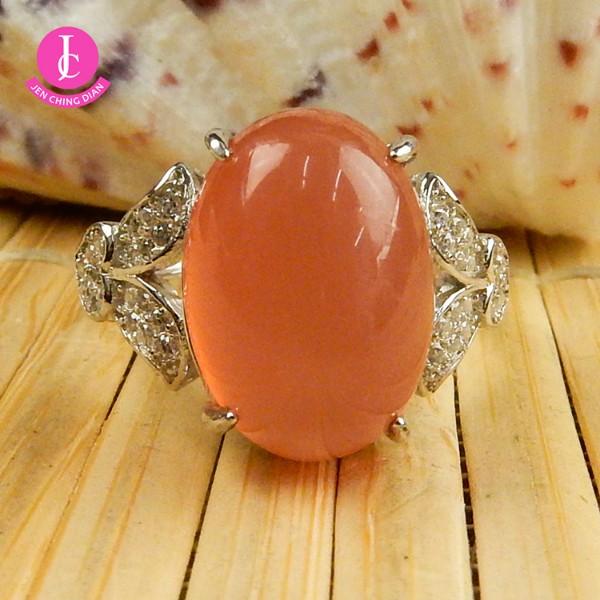 天然紅玉髓戒指