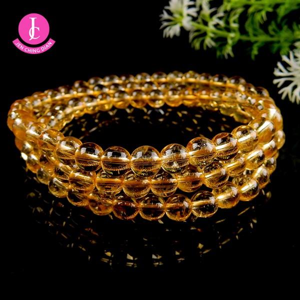 天然黃水晶手珠(三圈型)