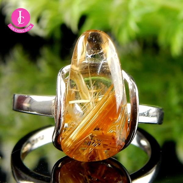 天然鈦晶戒指