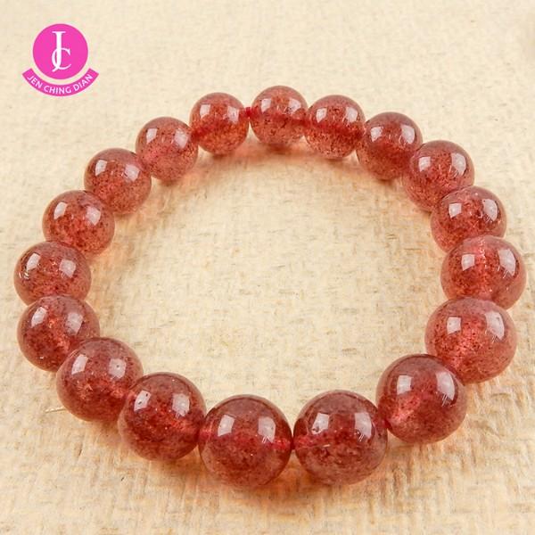 天然草莓晶手珠