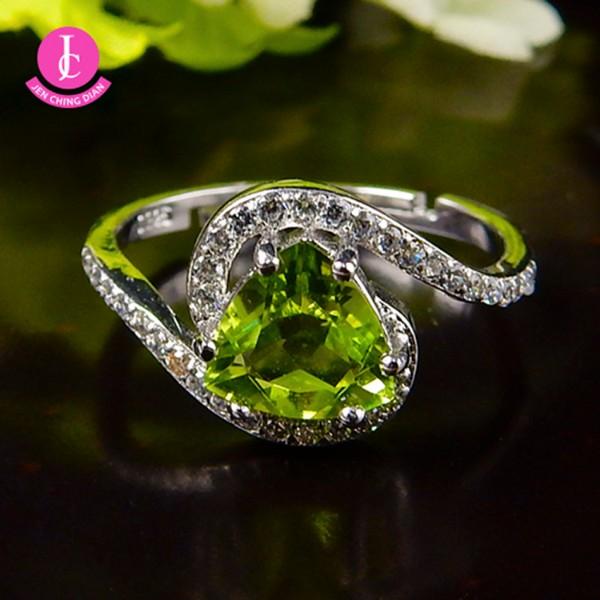 天然橄欖石戒指