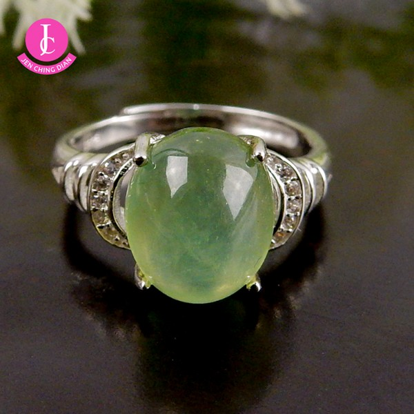 天然葡萄石戒指