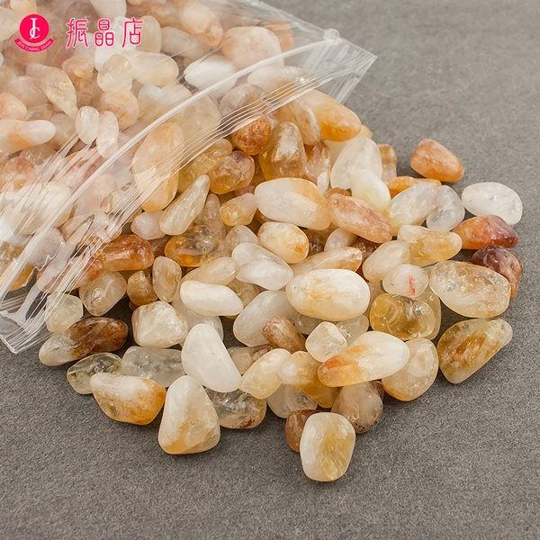天然B級黃水晶碎石1公斤裝