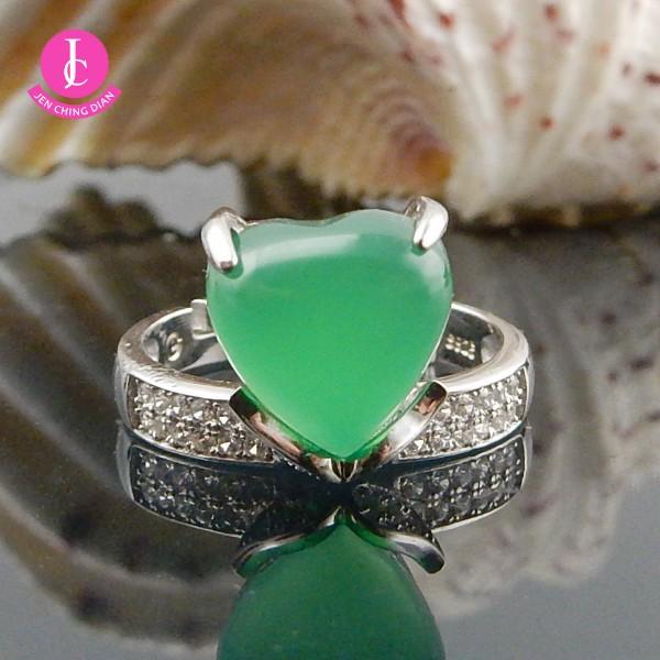 天然綠玉髓戒指