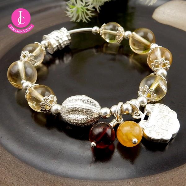 天然黃水晶手鍊